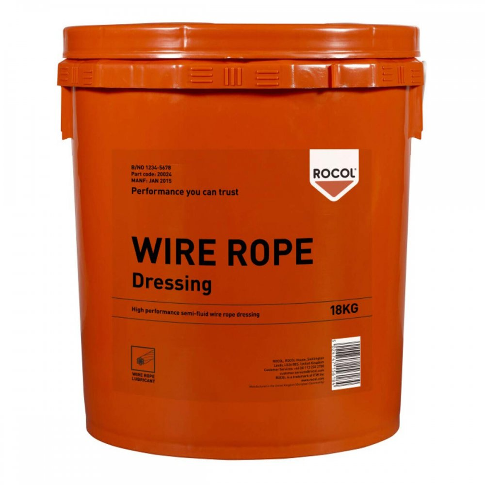WIRE ROPE DRESSING 18 KG ROCOL