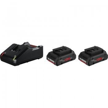 Kit Caricabatterie Bosch Gal 18v-40 + 2 Batterie A Litio 18v 4.0ah Procore