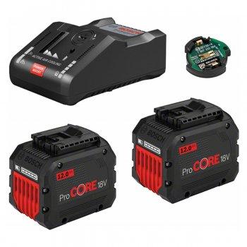 Kit Caricabatterie Bosch Gal 18v-160 Con 2 Batterie Procore 18v 12ah