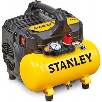 Compressore Aria Elettrico Portatile Stanley Dst 100/8/6 Silenziato 6lt