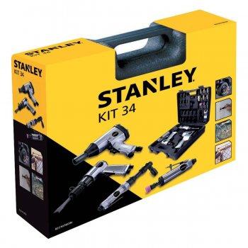Kit 34 Utensili Pneumatici Per Compressore Aria Stanley Con Valigetta