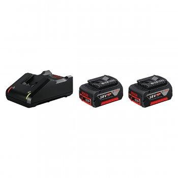 Kit Caricabatterie Bosch Gal 18v-40 + 2 Batterie A Litio 18v 4.0ah