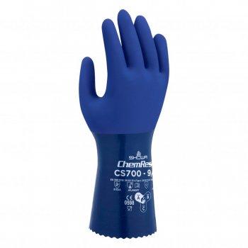 Guanti Da Lavoro In Nitrile Protezione Chimica Blu Showa Cs700 Tg. 9/l