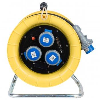 Avvolgicavo Industriale Termoplastico Vb Electric 30mt 3 Prese 16a 230v 2p+e Ip67