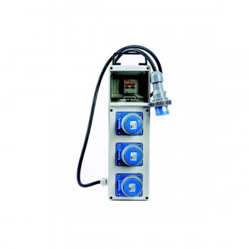 Quadro Elettrico Industriale Portatile Termoplastico 3 Prese 230v 16a P+n+t 3kw - Vb-pl220/3