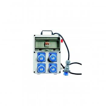 Quadro Elettrico Industriale Portatile Termoplastico 4 Prese 230v 16a 2p+e 3kw - Vb-pl220/4-f