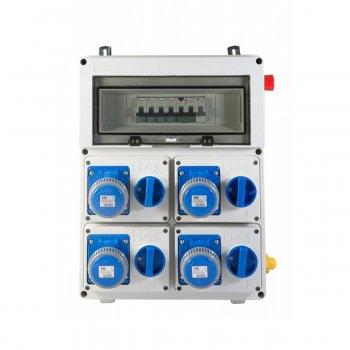 Quadro Elettrico Industriale Da Muro Termoplastico 4 Prese 230v 16a Ip67 9kw - Vb-plg40000-4m