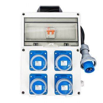 Quadro Elettrico Industriale Portatile Termoplastico 4 Prese 230v 16a 2p+e 3kw - Vb-pl220/4