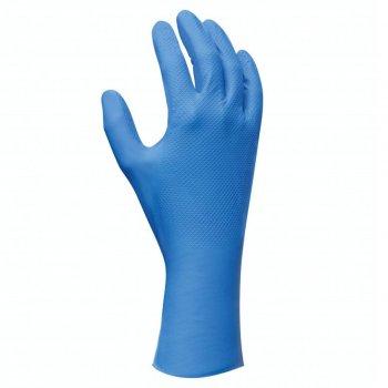 Guanti Da Lavoro In Nitrile Protezione Chimica Blu Showa 708 Conf 10 Paia